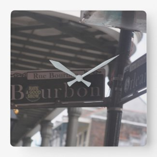 Bourbon Street Sign Clock