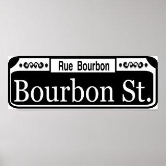 Bourbon Street Sign print