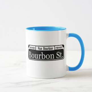 Bourbon Street Sign Shirt Mug