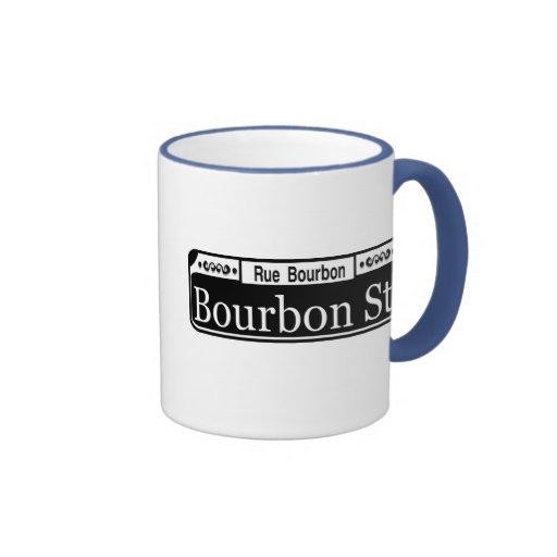 Bourbon Street Sign Shirt Ringer Coffee Mug