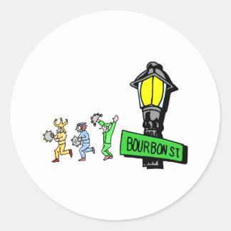 Bourbon Street Round Stickers