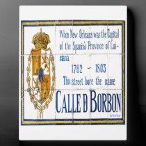 Bourbon Street Tile Mural plaques