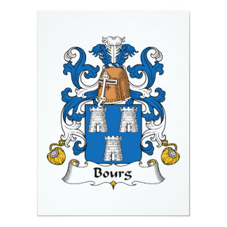 Bourg Family Crest Personalized Invites