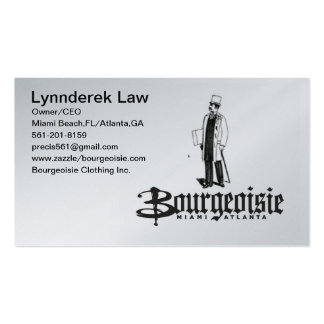Bourgeoisie Double-Sided Standard Business Cards (Pack Of 100)