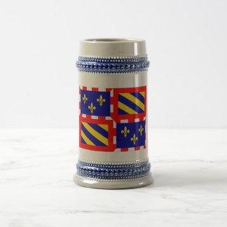 Bourgogne flag beer stein