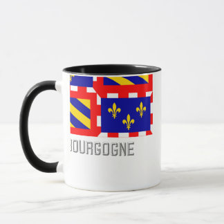 Bourgogne flag with name mug