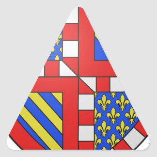 Bourgogne (France) Coat of Arms Triangle Sticker