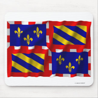 Bourgogne waving flag mouse pads