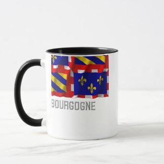 Bourgogne waving flag with name mug