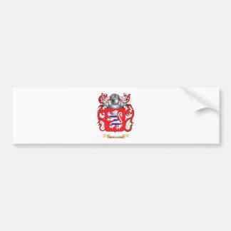 Bourguignon Coat of Arms (Family Crest) Bumper Sticker