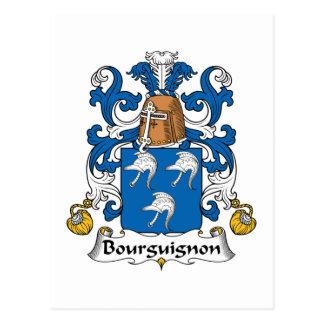 Bourguignon Family Crest Post Cards
