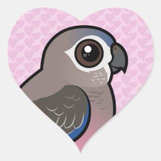 Bourke's Parrot Heart Sticker
