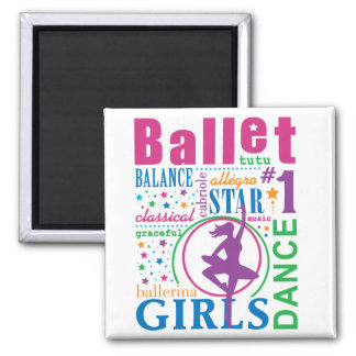 Bourne Ballet 2 Inch Square Magnet