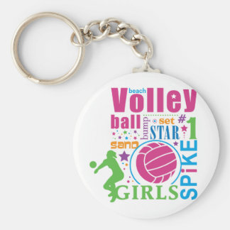 Bourne Beach Volleyball Basic Round Button Keychain