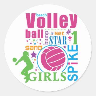 Bourne Beach Volleyball Classic Round Sticker