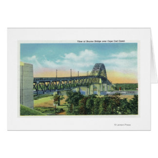 Bourne Bridge over Cape Cod Canal View Card