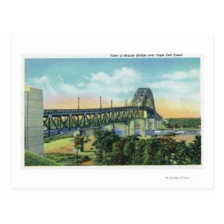 Bourne Bridge over Cape Cod Canal View Postcard