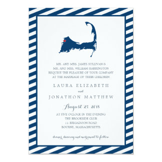 Bourne Cape Cod Map | Wedding Card