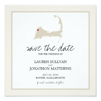 Bourne Cape Cod Wedding Save the Date Card