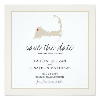 Bourne Cape Cod Wedding Save the Date Card