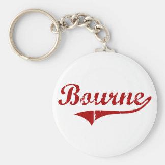 Bourne Massachusetts Classic Design Basic Round Button Keychain