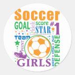 Bourne Soccer Classic Round Sticker