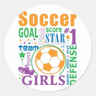 Bourne Soccer Round Stickers