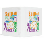 Bourne Softball 3 Ring Binder