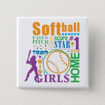 Bourne Softball Button