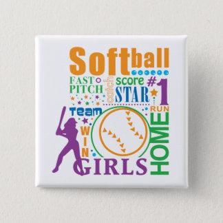 Bourne Softball Button