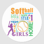 Bourne Softball Classic Round Sticker