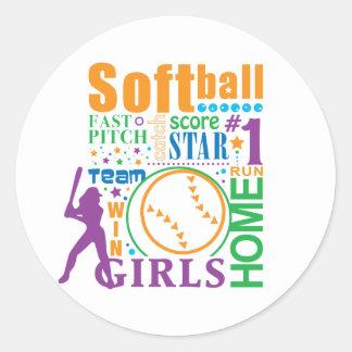 Bourne Softball Classic Round Sticker