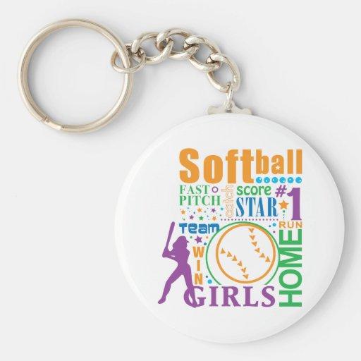 Bourne Softball Key Chains