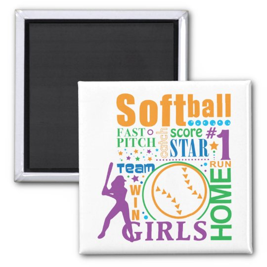 Bourne Softball Magnet