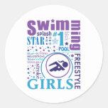 Bourne Swimming Classic Round Sticker