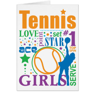 Bourne Tennis Greeting Cards