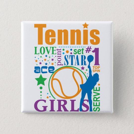 Bourne Tennis Pinback Button
