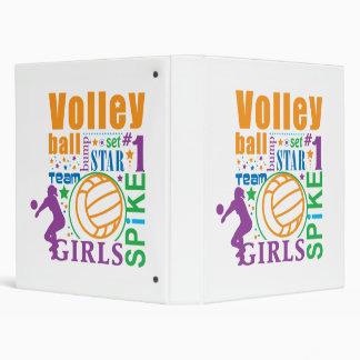 Bourne Volleyball 3 Ring Binder