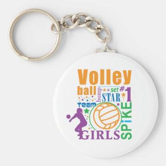 Bourne Volleyball Basic Round Button Keychain