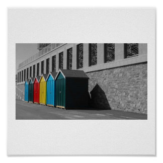 Bournemouth Beach Huts Poster