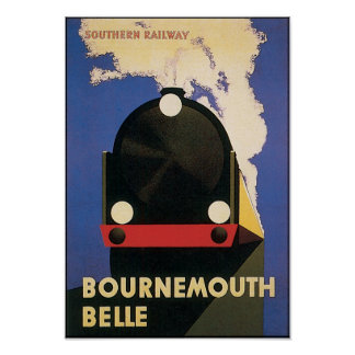 Bournemouth Belle Vintage Travel Poster
