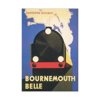 Bournemouth Belle Vintage Travel Poster Canvas Print