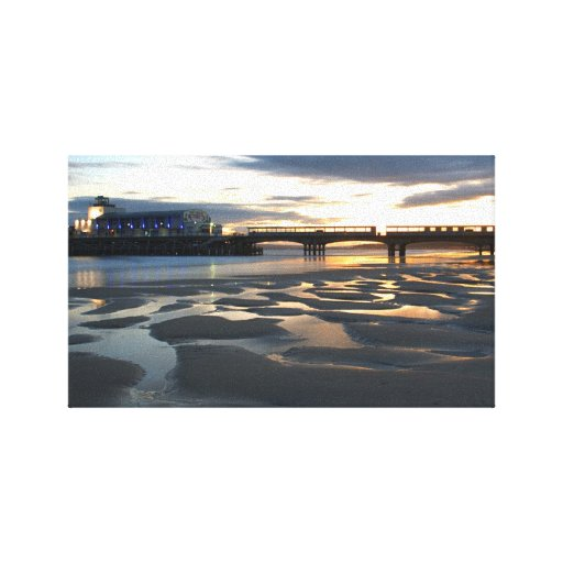 Bournemouth pier stretched canvas prints
