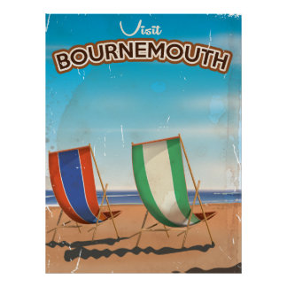 Bournemouth vintage travel poster