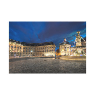 Bourse square, Bordeaux Canvas Print