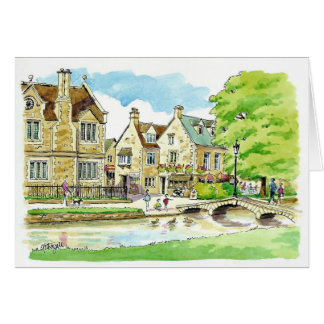 Bourton on the Water, Gloucestershire Greeting Card