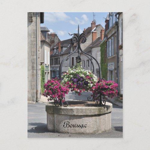 Boussac, Creuse, France postcard postcard