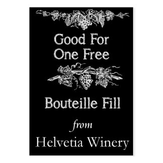 Bouteille Fill Card Large Business Card