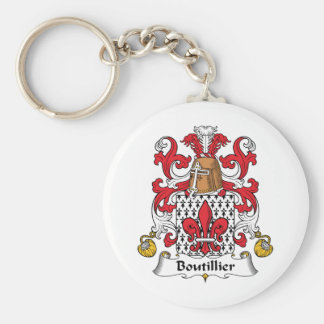 Boutillier Family Crest Key Chains