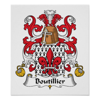Boutillier Family Crest Poster